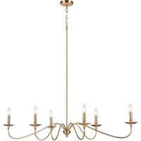 41 Elizabeth 55937-BB Cygnus 47 inch Burnished Brass Chandelier Ceiling Light