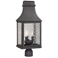 41ELIZABETH 47236-C Chad 3 Light 23 inch Charcoal Post Mount