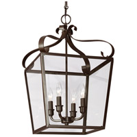 41 Elizabeth 40651-HBCG Pell 4 Light 14 inch Heirloom Bronze Hall/Foyer Pendant Ceiling Light