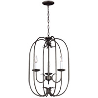 41ELIZABETH 43138-HB Stacey 3 Light 16 inch Heirloom Bronze Foyer Pendant Ceiling Light