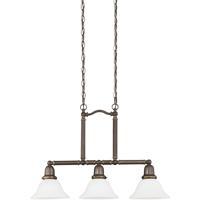 41 Elizabeth 40389-HBSE Zona 3 Light 8 inch Heirloom Bronze Pendant Ceiling Light in Satin Etched Glass