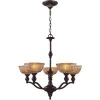 41ELIZABETH 47261-OBA Dwight 5 Light 28 inch Oiled Bronze Chandelier Ceiling Light