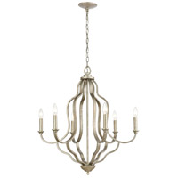 41 Elizabeth 55948-DS Drummond 27 inch Dusted Silver Chandelier Ceiling Light