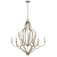 41 Elizabeth 55949-DS Drummond 34 inch Dusted Silver Chandelier Ceiling Light