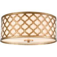 41 Elizabeth 55953-BG Hortensio 15 inch Bronze Gold Flush Mount Ceiling Light