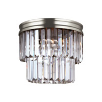 41ELIZABETH 42980-ABCB Kyle 2 Light 11 inch Antique Brushed Nickel Flush Mount Ceiling Light