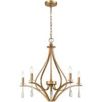 41 Elizabeth 55958-AG Tranquility 27 inch Antique Gold Chandelier Ceiling Light