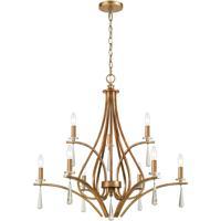 41 Elizabeth 55959-AG Tranquility 30 inch Antique Gold Chandelier Ceiling Light