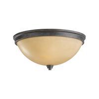 41ELIZABETH 40580-FBCP Fidelity 2 Light 13 inch Flemish Bronze Flush Mount Ceiling Light Creme Parchement Glass