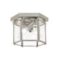 41 Elizabeth 41063-BNCB April 2 Light 8 inch Brushed Nickel Flush Mount Ceiling Light