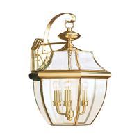 41ELIZABETH 41117-PBCC Tonya 3 Light 23 inch Polished Brass Outdoor Wall Lantern