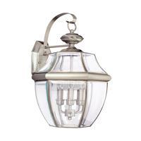 41ELIZABETH 41120-ABCC Tonya 3 Light 23 inch Antique Brushed Nickel Outdoor Wall Lantern