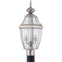 41 Elizabeth 40453-AB Tonya 2 Light 22 inch Antique Brushed Nickel Outdoor Post Lantern