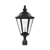 41ELIZABETH 43256-BCP Sileas 3 Light 26 inch Black Outdoor Post Lantern