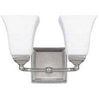 41ELIZABETH 46577-PNSW Booker 2 Light 13 inch Polished Nickel Vanity Light Wall Light thumb