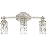 41 Elizabeth 46584-ASCC Dudley 3 Light 21 inch Antique Silver Vanity Wall Light