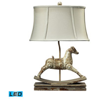 41 Elizabeth 46244-CCL Rufus 24 inch 9.5 watt Clancey Court Table Lamp Portable Light in LED