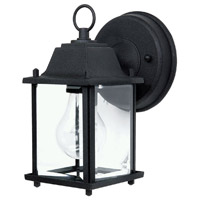 41ELIZABETH 46618-BCG Booker 1 Light 8 inch Black Outdoor Wall Lantern thumb