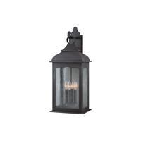 41ELIZABETH 40947-CI Vigilius 4 Light 27 inch Colonial Iron Outdoor Wall Lantern in Incandescent