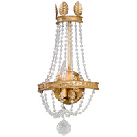 41 Elizabeth 40995-DG Equinox 1 Light 9 inch Distressed Gold Leaf Wall Sconce Wall Light