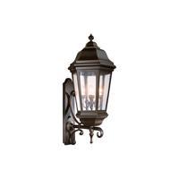41 Elizabeth 40900-ABCS Lucille 4 Light 44 inch Antique Bronze Outdoor Wall Lantern in Incandescent