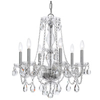 41ELIZABETH 56225-CFC Rawson 6 Light 23 inch Chrome Chandelier Ceiling Light