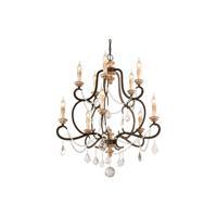 41ELIZABETH 41175-PB Carolus 10 Light 32 inch Parisian Bronze Chandelier Ceiling Light