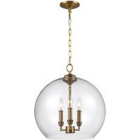 41ELIZABETH 41209-BBC Konstance 3 Light 16 inch Burnished Brass Pendant Ceiling Light
