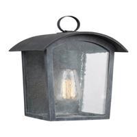 41 Elizabeth 41019-ABCS Feste 1 Light 12 inch Ash Black Outdoor Wall Lantern