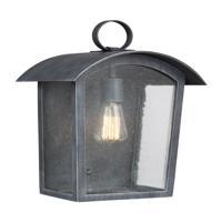 41 Elizabeth 41020-ABCS Feste 1 Light 16 inch Ash Black Outdoor Wall Lantern