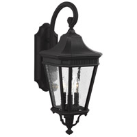 41 Elizabeth 41190-BCS Quade 3 Light 24 inch Black Outdoor Wall Lantern