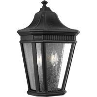 41 Elizabeth 41191-BCS Quade 2 Light 16 inch Black Outdoor Wall Lantern