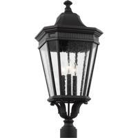 41 Elizabeth 41196-BCS Quade 3 Light 28 inch Black Outdoor Post Lantern
