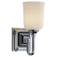 41 Elizabeth 40568-CWO Burgess 1 Light 5 inch Chrome Vanity Strip Wall Light