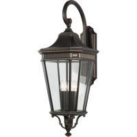 41 Elizabeth 47495-GBCB Quade 36 inch Grecian Bronze Outdoor Wall Lantern in Clear Beveled Glass