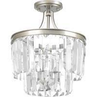 41 Elizabeth 43446-SRC Benedict 3 Light 13 inch Silver Ridge Semi-Flush Convertible Pendant Ceiling Light Design Series
