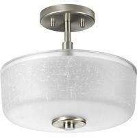 41 Elizabeth 41440-BNWL Lyndon 2 Light 12 inch Brushed Nickel Semi-Flush Mount Ceiling Light