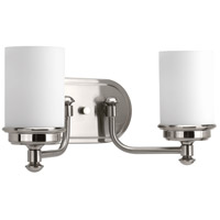 Brushed Nickel Folsham Bathroom Vanity Lights