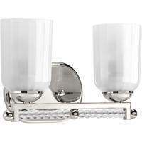 41 Elizabeth 43404-PNSB Duffy 2 Light 13 inch Polished Nickel Bath Vanity Wall Light Design Series