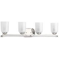 41ELIZABETH 43408-PNSB Duffy 4 Light 32 inch Polished Nickel Bath Vanity Wall Light Design Series
