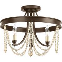 41ELIZABETH 43457-ABVI Hunt 3 Light 16 inch Antique Bronze Semi-Flush Convertible Ceiling Light Design Series