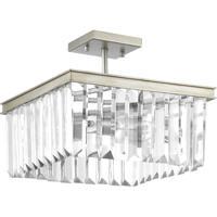41 Elizabeth 43462-SRI Benedict 2 Light 14 inch Silver Ridge Semi-Flush Convertible Ceiling Light Design Series