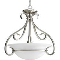 41 Elizabeth 41356-BNE Slade 3 Light 18 inch Brushed Nickel Hall & Foyer Ceiling Light in Etched