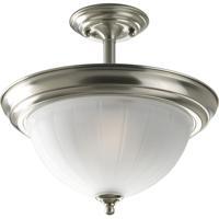 41 Elizabeth 41421-BNEM Skeet 2 Light 13 inch Brushed Nickel Semi-Flush Mount Ceiling Light