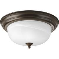 """41 Elizabeth Alabaster 2 Light 13 inch Antique Bronze Flush Mount Ceiling Light in 13-1/4"""" Alabaster Glass"""
