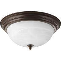 """41 Elizabeth Alabaster 3 Light 15 inch Antique Bronze Flush Mount Ceiling Light in 15-1/4"""" Alabaster Glass"""