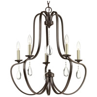 41ELIZABETH 42881-ABCW Kenley 5 Light 25 inch Antique Bronze Chandelier Ceiling Light