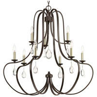 41ELIZABETH 42883-ABCW Kenley 9 Light 34 inch Antique Bronze Chandelier Ceiling Light