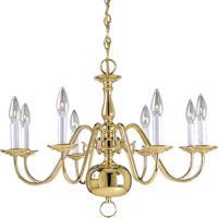 41 Elizabeth 41262-PB Cassius 8 Light 26 inch Polished Brass Chandelier Ceiling Light