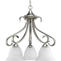 41ELIZABETH 41254-BNE Slade 3 Light 19 inch Brushed Nickel Chandelier Ceiling Light in Etched